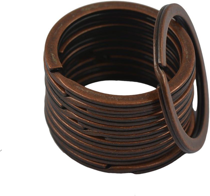 50pcs 38mm Split Cl/és Anneaux M/étal Forte Porte-cl/és Ring Connecteur M/étal Anneau Split par TheBigThumb