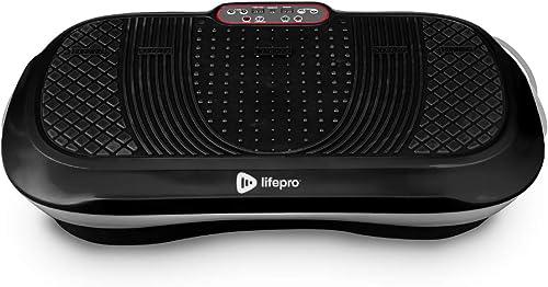 LifePro Waver Vibration Plate Exercise Machine - Whole Body Workout Vibration Fitness Platform w/Loop Bands - Home Tr...