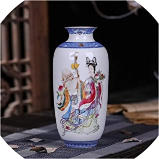Antique Jingdezhen Ceramic Vase Eggshell Vase Desk Accessories Crafts Snow Flower Pot Traditional Style Porcelain Vase,8