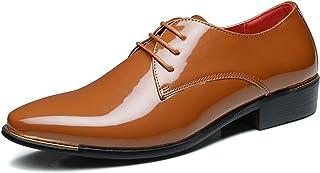 Qlv House Men's Oxford Tuxedo Shoes