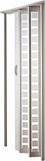 LTL Home Products HSMETRO3280WHSQ Spectrum Metro Frosted Plexiglas Accordion Folding Door, 36 x 80 Inches, White