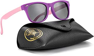 Flexible Kids Sunglasses Polarized Baby Boys and Girls UV Protection with Case, Age 2-8