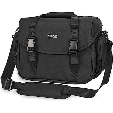 CADeN Camera Bag Case Shoulder Messenger Bag with Tripod Holder Compatible for Nikon, Canon, Sony, DSLR SLR Mirrorless CamerasWaterproof Black