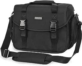 CADeN Camera Bag Case Shoulder Messenger Bag with Tripod Holder Compatible for Nikon, Canon, Sony, DSLR SLR Mirrorless Cameras Waterproof Black