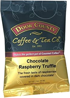 Door County Coffee, Chocolate Raspberry Truffle, Ground, 1.5oz Full-Pot Bag