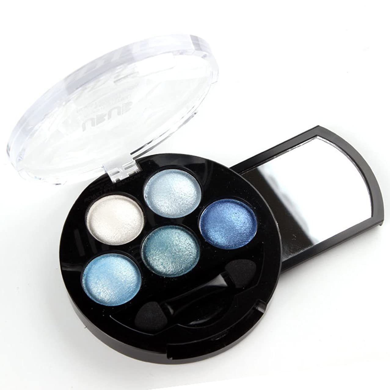 一元化するピストン故意の(Blue) - HugeStore 5 Colours Glitter Eyeshadow Eye Shadow Powder Palette Shimmer Metallic Blue
