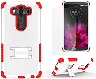 Beyond Tri-Shield Case for LG V10 - Retail Packaging - White/Red