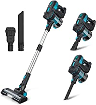 INSE Cordless Vacuum Cleaner, Stick Vacuum with Powerful Suction, 6-in-1 Lightweight Handheld Vacuum with 2200mAh Recharge...