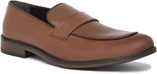 NOBLE CURVE Brown Leather Loafers Shoes