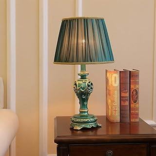HtapsG Lampe de Table Lampe européenne Pastorale de Luxe américaine étude Lampe Lampe Lampe de Table Peinte à la Main rétr...