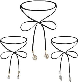 Choker Necklace Set Women Girls Adjustable Velvet Retro Gothic Pendant Fashion Jewelry