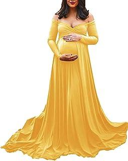 388e4c0e1f622 Arbres Femme Robes de Enceinte Photographie Maxi Robe de Grossesse pour  Photo Shooting Baby Shower Dress