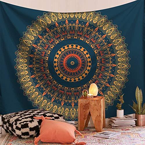 KHKJ Alfombra para Colgar en la Pared, Tapiz de Mandala de Pared Rectangular, Tapiz de Fondo con Estampado Floral para el hogar, decoración de Tela, Manta de decoración A2 150x130cm