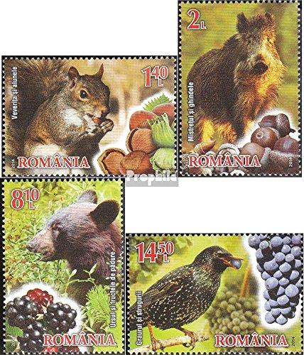 Prophila Collection Rumänien 6861A-6864A (kompl.Ausg.) 2014 Früchte und Fauna (Briefmarken für Sammler) Säuger Sonstige