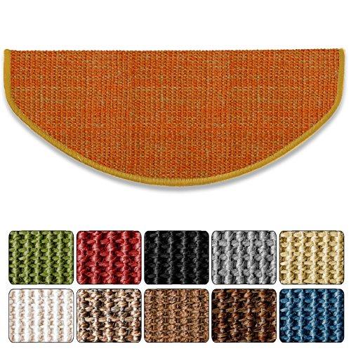 Teppich Stufenmatten Treppenstufen 100% Sisal Natur(ca. 18 x 56 cm, Terra)