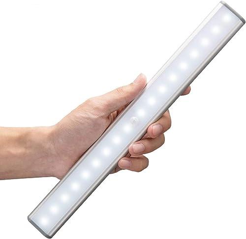 Moston Lampes 18 LED, Sans Fil, Rechargeable par USB, Aimanté, Détecteur de Mouvement, 2 Modes d'Éclairage, Portable....