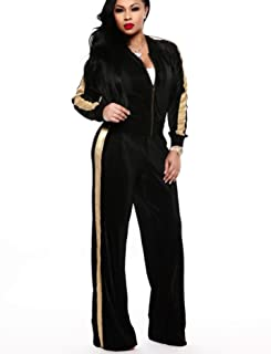 Womens Two Piece Outfits Tracksuit - Zip Up Jackets and Long Sweatpants Jogging Suit Sweatsuits Lounge Set