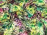 Animal Print Stretch Polycotton Satin Kleid Stoff,
