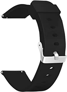 Vetoo Quick Release Silicone Watch Bands, Choose Color and Width 18mm, 20mm, 22mm, 8 Colors Rubber Replacement Band Strap for Men Women