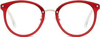 Retro Round Blue Light Blocking Glasses TR90 Computer Eyeglasses Ashley SJ9001