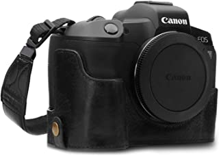 MegaGear Ever Ready Genuine Leather Camera Half Case Compatible with Canon EOS R