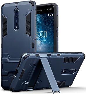 95020bb6d76 TERRAPIN Funda Compatible con Nokia 8 Carcasa Híbrida de Silicona +  Polycarbonato Doble Resistencia, y