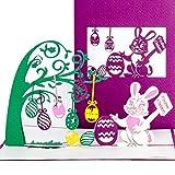 """3D Pop Up Karte""""Frohe Ostern"""" Osterkarte mit Umschlag, 3D Klappkarte zu Ostern, einzigartige Ostergrußkarte als Karte, Geschenk & Gutschein"""