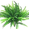 Artificial Shrubs 4 Bunches Artificial Boston Fern Plants Greenery Bushes Flower for House Office Garden Indoor Outdoor