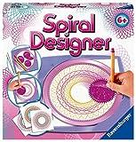 Ravensburger Spiral-Designer Girls 29027, Zeichnen lernen für Kinder ab 6 Jahren, Kreatives Zeichen-Set mit Schablonen für farbenfrohe Spiralbilder und Mandalas