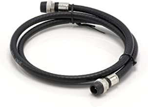 THE CIMPLE CO - 10' Feet, Black RG6 Coaxial Cable - Made in The USA - with Rubber booted - Weather Proof - Outdoor Rated Connectors, F81 / RF, Digital Coax for CATV, Antenna, Internet, Satellite