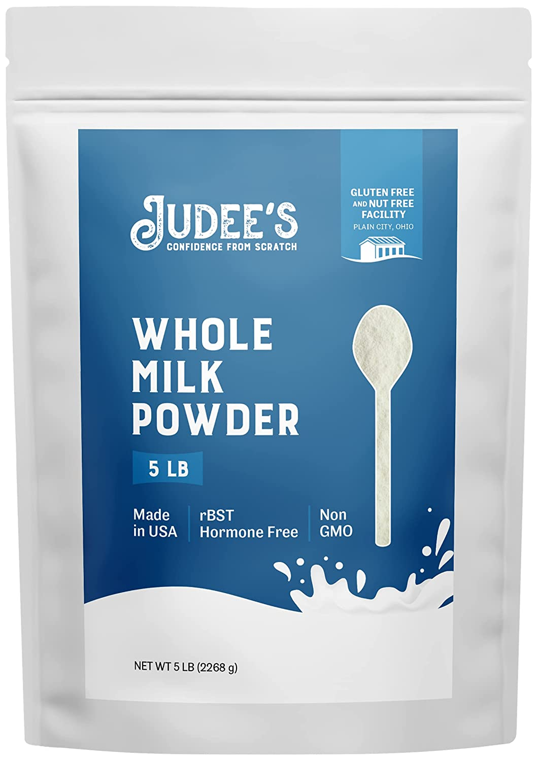 Judee's Whole Milk Powder 5lb 100% New popularity Hormone- Quality inspection Non-GMO rBST -