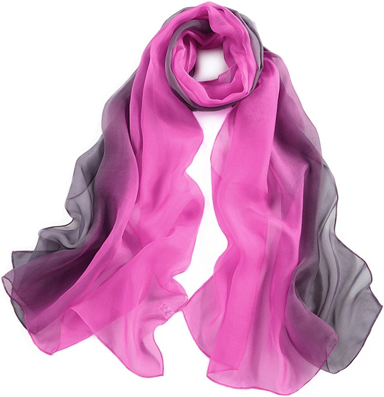 Silk Scarfs for Women Ladies 100% Mulberry Silk Head Scarf 70,8  x 27,5