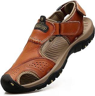 Mens Leather Sandals Outdoor Hiking Sandals Waterproof...