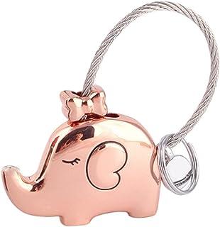 Monbedos Sac Porte-clés Porte-clés Rose Gold Motif éléphant Accessoire Porte-clés