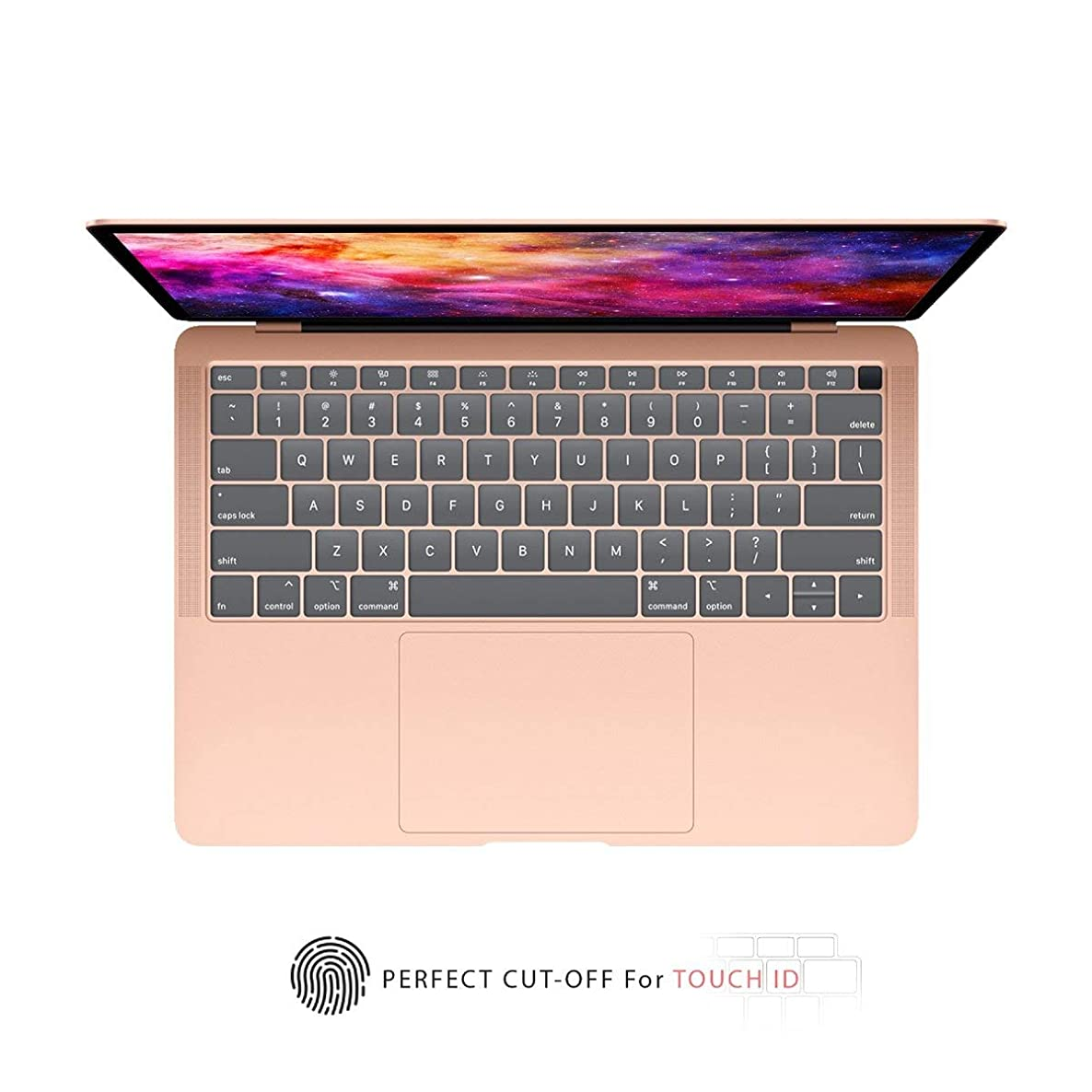 TOP CASE - Ultra Thin TPU Keyboard Cover Skin Compatible with 2018 Release MacBook Air 13 Inch with Retina Display fits Touch ID Model: A1932 - Clear