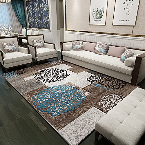OUUED Moderno simple y moderno alfombra europea sala de estar dormitorio en la cama cubierta con mantas, niños y niñas, sala, suave y cómoda, asunto de oficina, sala de conferencias de oficina, alfomb