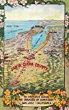 San Jose, California - Aerial Map of Santa Clara County (16x24 Giclee Gallery Print, Wall Decor Travel Poster)