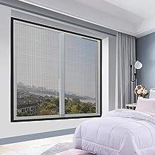 BASHI Verstelbaar DIY-raamscherm, wasbaar zelfklevend schermnet, muggenbescherming, efficiënt transparant raamnet, eenvoud...