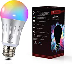 SmartChoice E27 WiFi LED 6000k + RGBW, 9w Multi Colour Changeable Smart Light Bulb, Works with Smart Phones, Alexa and Goo...