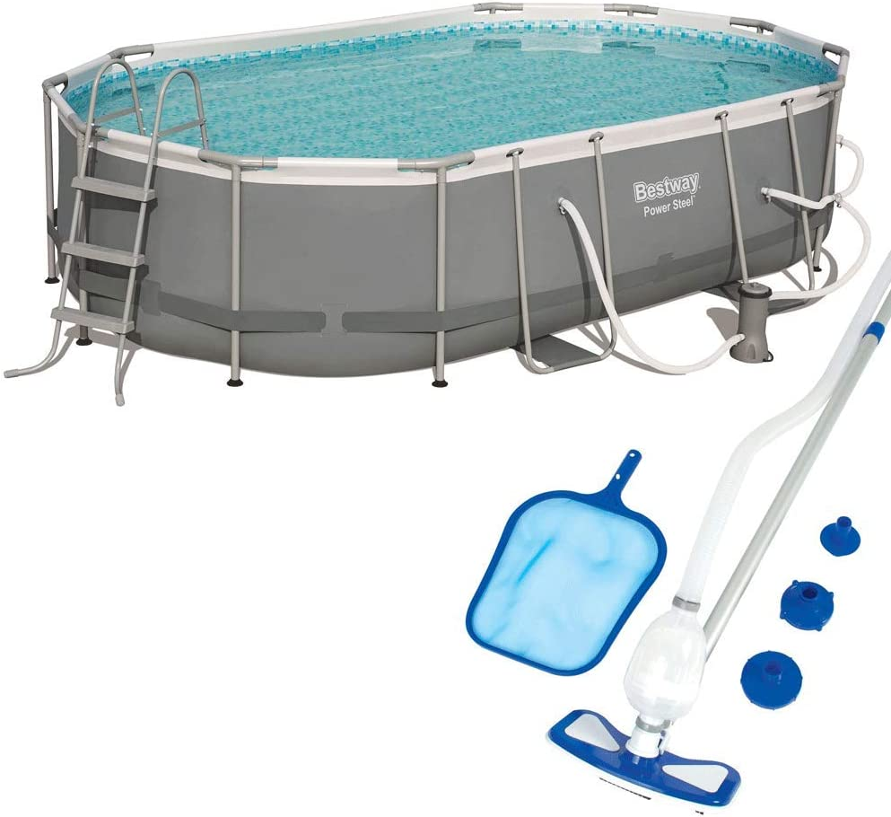 Bestway Power 16ft New color x 10ft 42in w Ground Pool Cash special price Above Pump Set