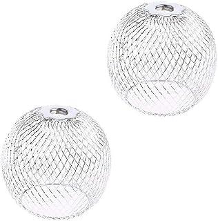 paralume da soffitto stile retr/ò lampadario creativo fai da te Velidy paralume vintage a forma di diamante stile industriale Nero in filo di metallo a forma di cestino vintage 2pack