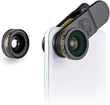 Black Eye - 3-Pack Clip-on Lens Compatible with iPhone, Galaxy, Pixel Phones, and Tablets