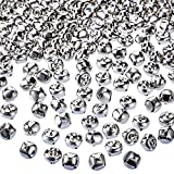 Jingle Christmas Bells, 300 Pieces Craft Bells, DIY Bells for Wreath, Holiday Home and Christmas Decoration (Silver, 0.5 inch)