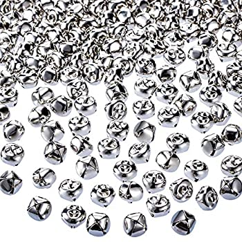 Jingle Christmas Bells 300 Pieces Craft Bells DIY Bells for Wreath Holiday Home and Christmas Decoration  Silver 0.5 inch