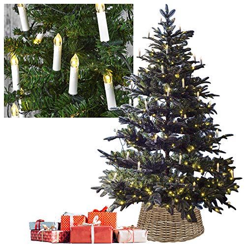 30 Clip On LED Flameless Candles Christmas Tree String Lights Decoration (30 LED Bulb String)