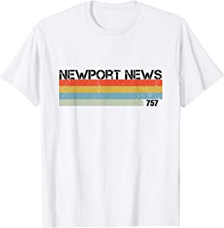 Newport News Vintage Retro Stripes T Shirt