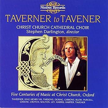 Taverner to Tavener: Five Centuries of Music at Christ Church, Oxford