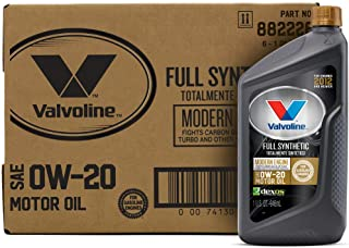 Valvoline 882226 Modern Engine SAE 0W-20 Synthetic Motor Oil 1 QT, Case of 6, 6 Pack