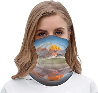 NoneBrand Tamengi Seamless Face Mask Bandanas Neck Gaiter Scarf Mask, Geological Phenomenon Breathable for Outdoor Sports