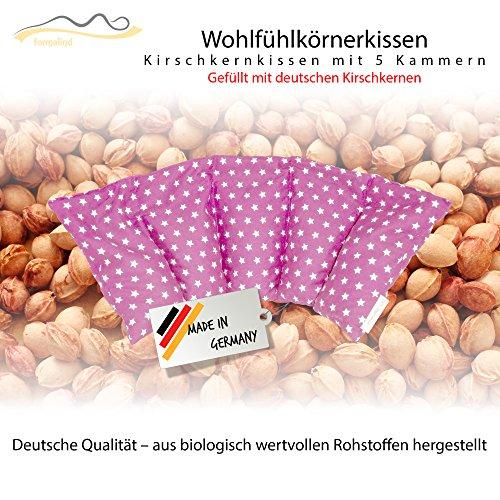 Großes Kirschkernkissen/ Entspannungskissen - Heizkissen (Wärmekissen) // langes Relaxkissen / Kirschkern-Kissen mit Stern-Muster in 18 Farben! (rosa)